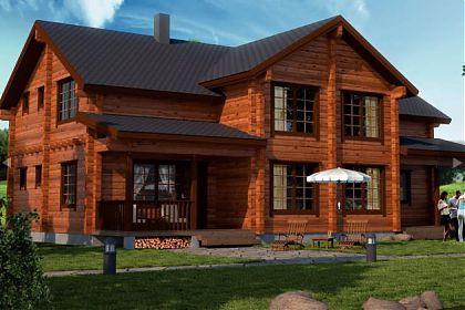 Загородный дом из бруса с мансардой 6х9, проект, фото